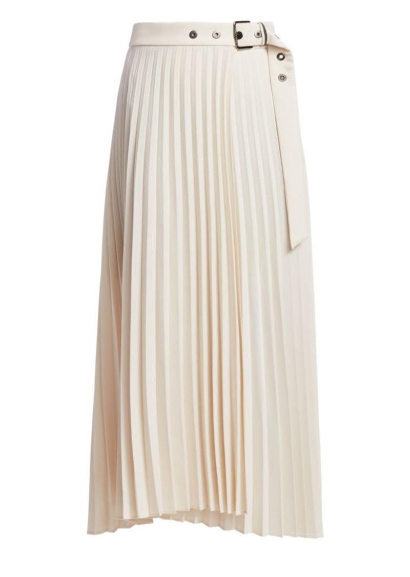Brunello Cucinelli Pleated Belt Midi Skirt