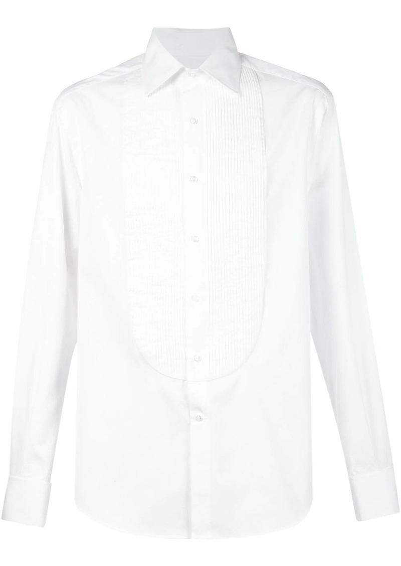 Brunello Cucinelli pleated bib shirt