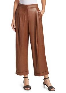 Brunello Cucinelli Pleated Leather Pants