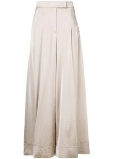 Brunello Cucinelli pleated wide leg trousers