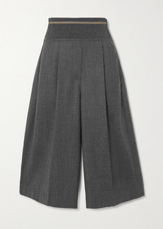 Brunello Cucinelli Pleated Wool-flannel Culottes