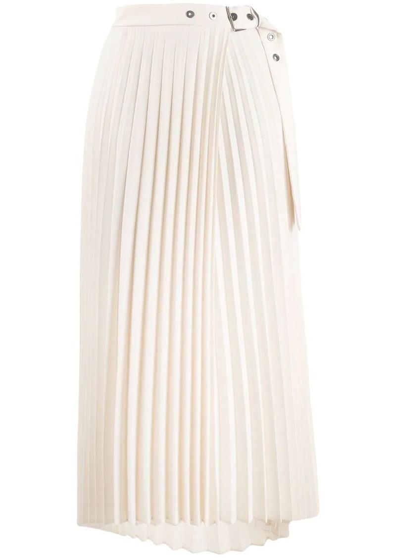 Brunello Cucinelli pleated wrap style skirt