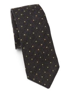 Brunello Cucinelli Polka Dot Wool & Silk Tie