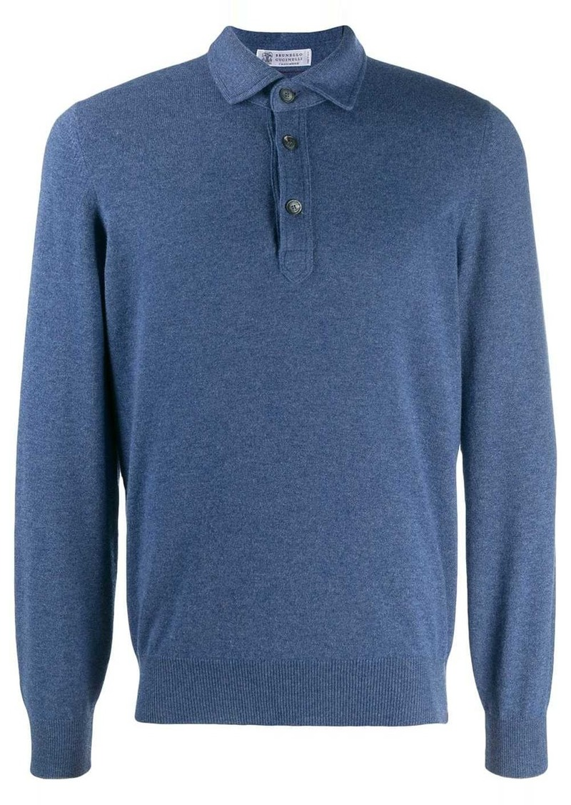 Brunello Cucinelli polo jumper