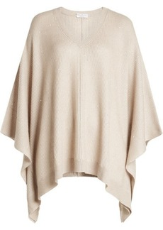 Brunello Cucinelli Poncho Pullover with Cashmere and Silk