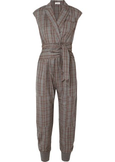 Brunello Cucinelli Prince Of Wales Checked Wool Jumpsuit