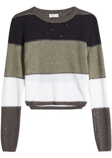 Brunello Cucinelli Pullover in Linen and Silk with Sequins