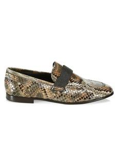 Brunello Cucinelli Python Loafers