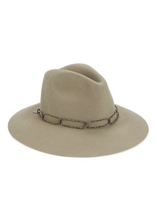 Brunello Cucinelli Rabbit Fur Monili-Trim Fedora
