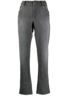 Brunello Cucinelli raw cuff jeans