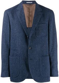 Brunello Cucinelli regular-fit chevron blazer