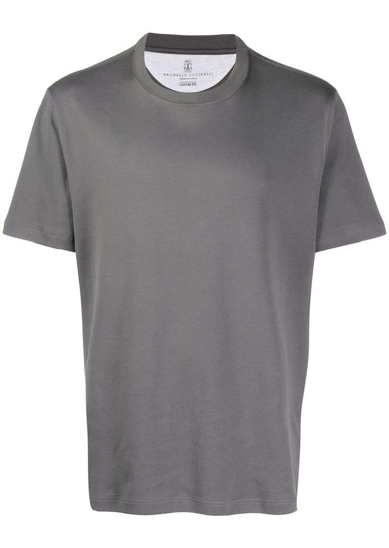 Brunello Cucinelli regular fit plain t-shirt