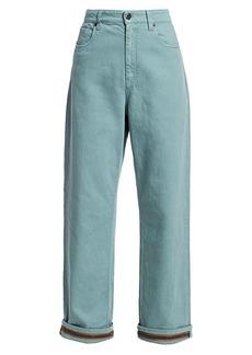 Brunello Cucinelli Relaxed Monili Cuff Jeans