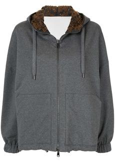 Brunello Cucinelli reversible cotton hoodie