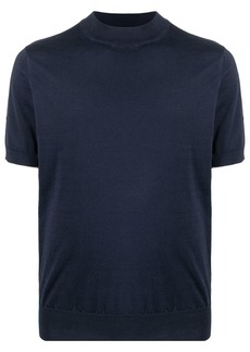 Brunello Cucinelli rib-trimmed cotton knitted top