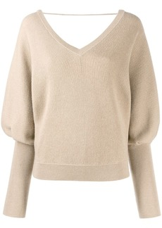 Brunello Cucinelli ribbed batwing sleeve jumper