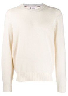 Brunello Cucinelli ribbed collar cashmere jumper