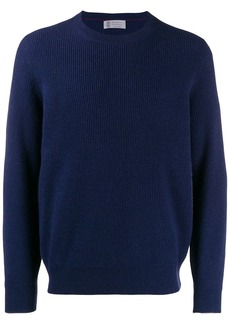 Brunello Cucinelli ribbed crew neck jumper