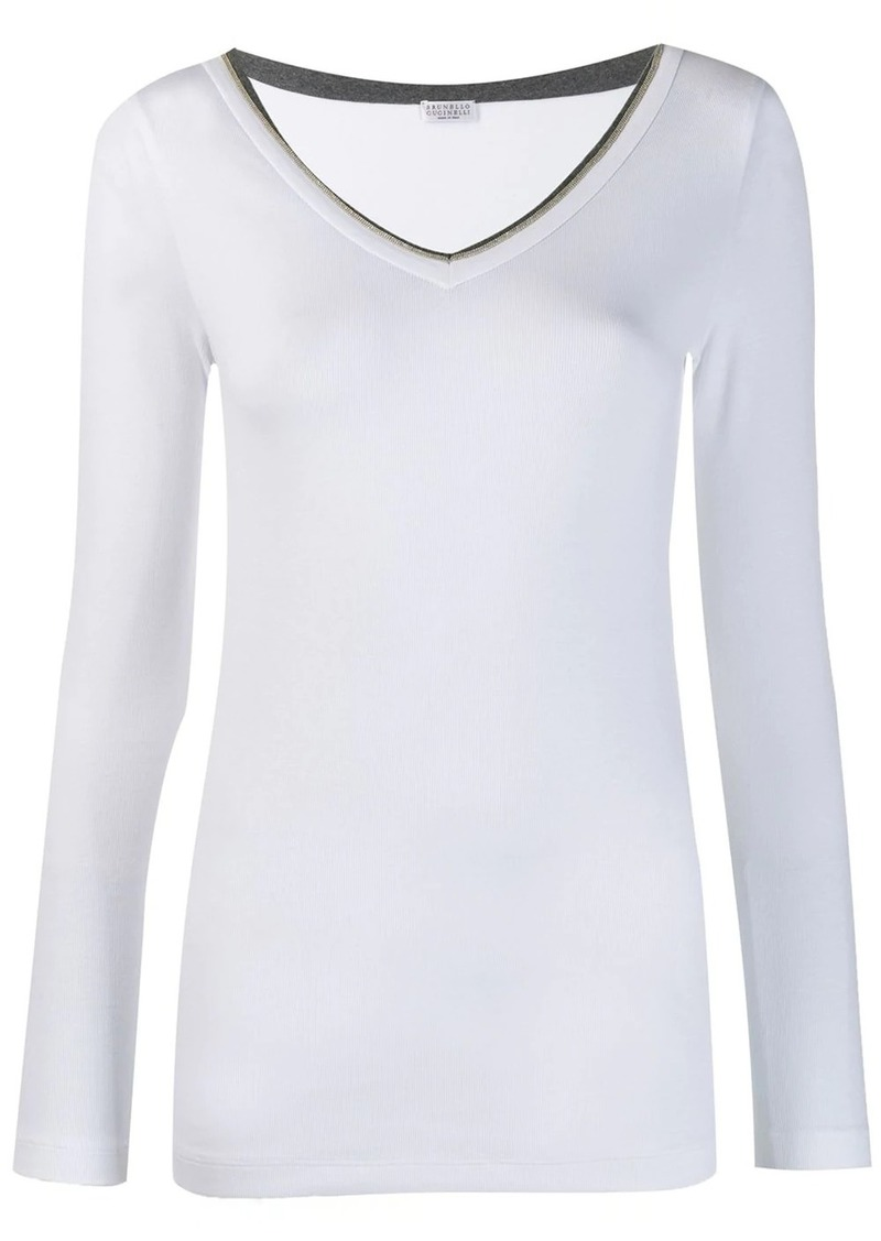 Brunello Cucinelli ribbed T-shirt