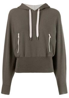 Brunello Cucinelli ribbed waist hoodie