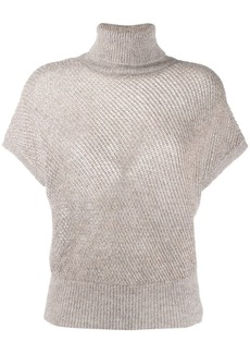 Brunello Cucinelli roll neck knitted top