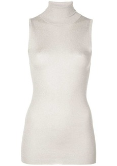 Brunello Cucinelli roll-neck sleeveless top