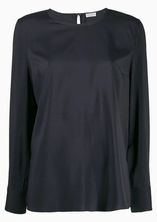 Brunello Cucinelli round neck blouse