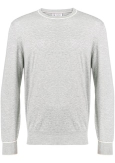 Brunello Cucinelli round neck fine knit sweater