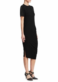 Brunello Cucinelli Ruched Jersey Dress
