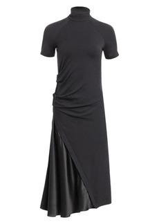 Brunello Cucinelli Ruched Mockneck Midi Dress