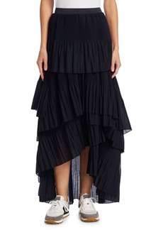 Brunello Cucinelli Rufffled Tiered Skirt