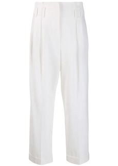Brunello Cucinelli ruffled waistband trousers