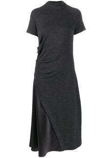 Brunello Cucinelli satin-panelled dress
