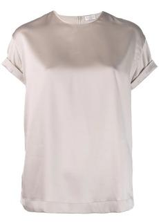 Brunello Cucinelli satin T-shirt