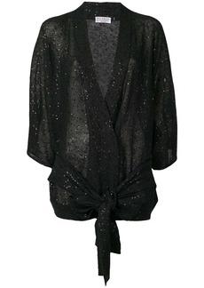 Brunello Cucinelli sequin belted cardigan