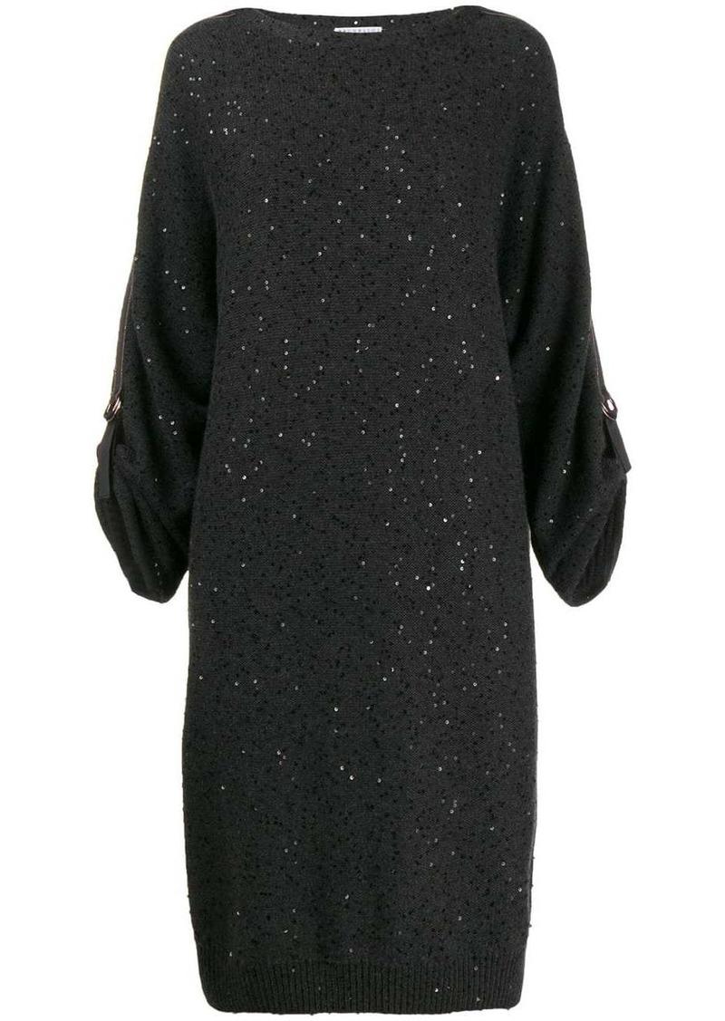 Brunello Cucinelli sequinned knit dress