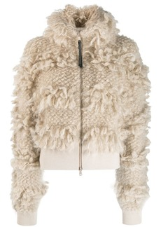 Brunello Cucinelli shaggy knit bomber jacket