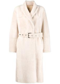 Brunello Cucinelli shearling trench coat