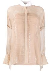 Brunello Cucinelli sheer blouse