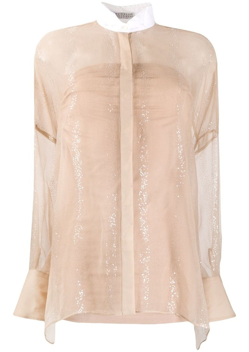 Brunello Cucinelli sheer blouse