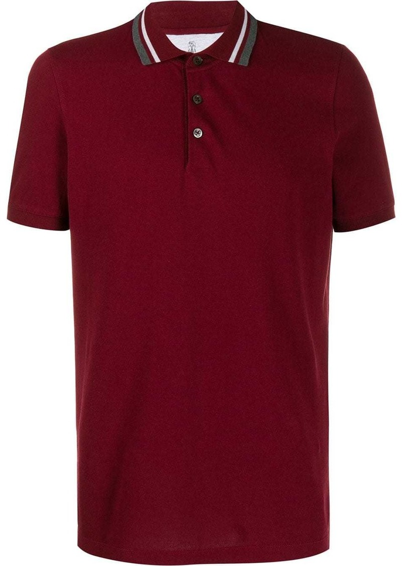 Brunello Cucinelli short-sleeve polo shirt