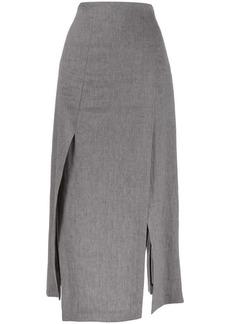 Brunello Cucinelli side-slit midi skirt