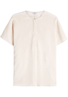 Brunello Cucinelli Silk Blend Top