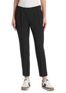 Brunello Cucinelli Silk Pleated Pants