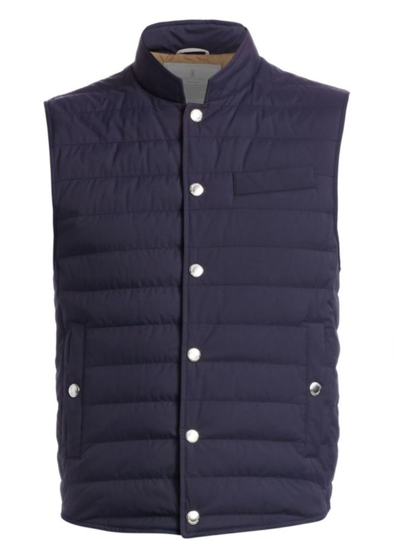 Brunello Cucinelli Skin Quilted Vest