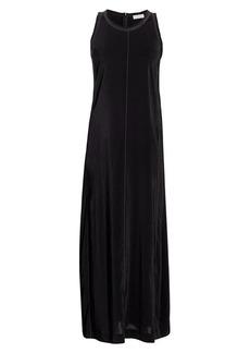 Brunello Cucinelli Sleeveless Silk-Blend Monili Midi Dress