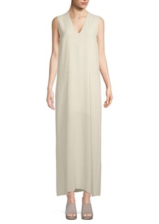 Brunello Cucinelli Sleeveless Silk Shift Dress