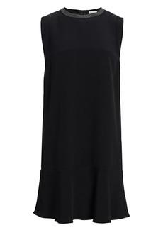 Brunello Cucinelli Sleeveless Stretch-Silk Crepe Monili Dress