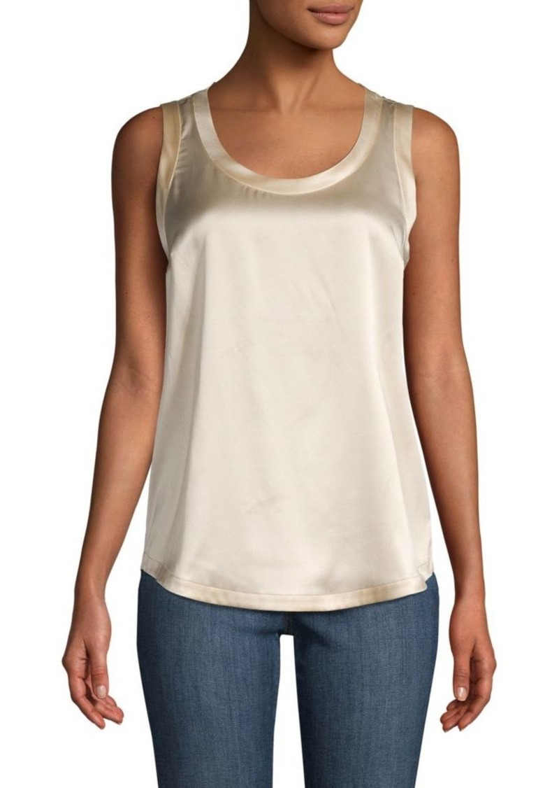 Brunello Cucinelli Sleeveless Stretch-Silk Top