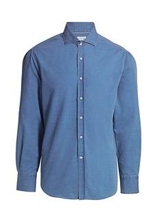 Brunello Cucinelli Slim-Fit Chambray Shirt